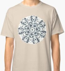 Stained Glass Mandala - Navy & White  Classic T-Shirt