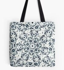 Stained Glass Mandala - Navy & White  Tote Bag