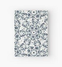 Stained Glass Mandala - Navy & White  Hardcover Journal
