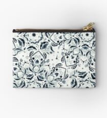 Stained Glass Mandala - Navy & White  Zipper Pouch