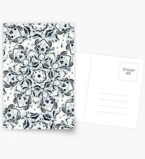 Stained Glass Mandala - Navy & White  Postcards