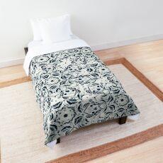 Stained Glass Mandala - Navy & White  Comforter