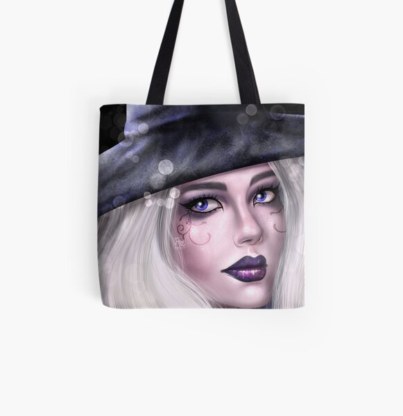 Witch All Over Print Tote Bag