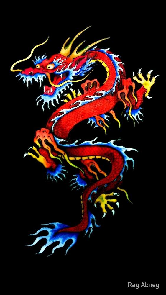 Japanese Dragon tattoo art  by Ray Abney