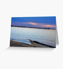 boating sunset Greeting Card