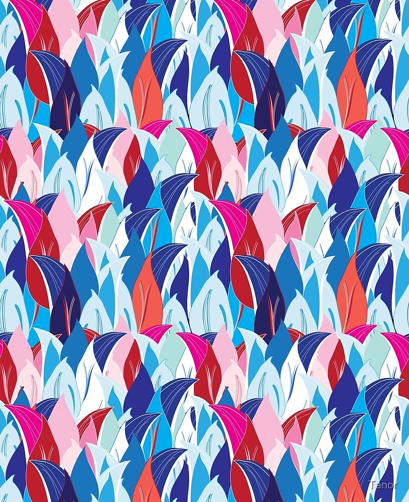 pattern flower petals by Tanor
