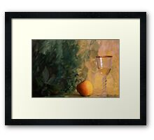 Quot A Glass Of Wine With Apple On Painted Background Quot Framed