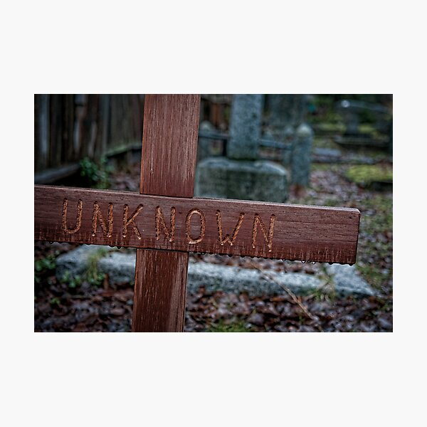 Unknown but not Forgotten Photographic Print