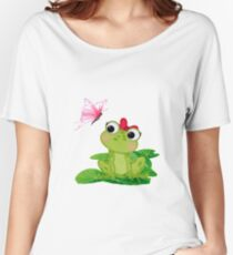 Cute Girl Frog Women's Relaxed Fit T-Shirt