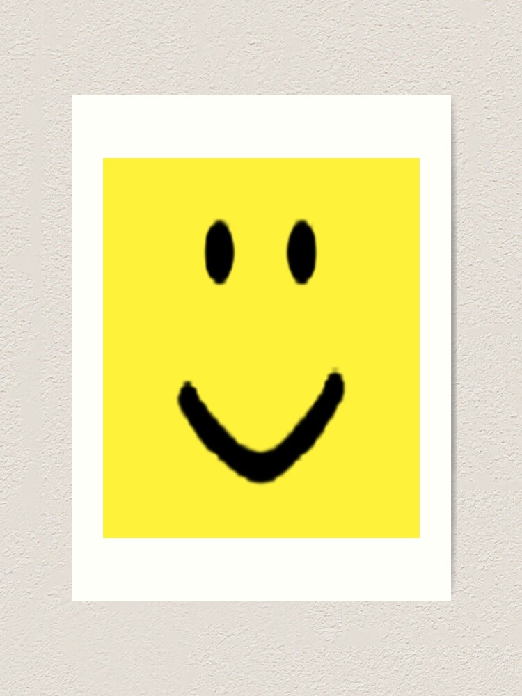 Roblox Halloween Noob Face Costume Smiley Positive Gift Art Print By Smoothnoob Redbubble