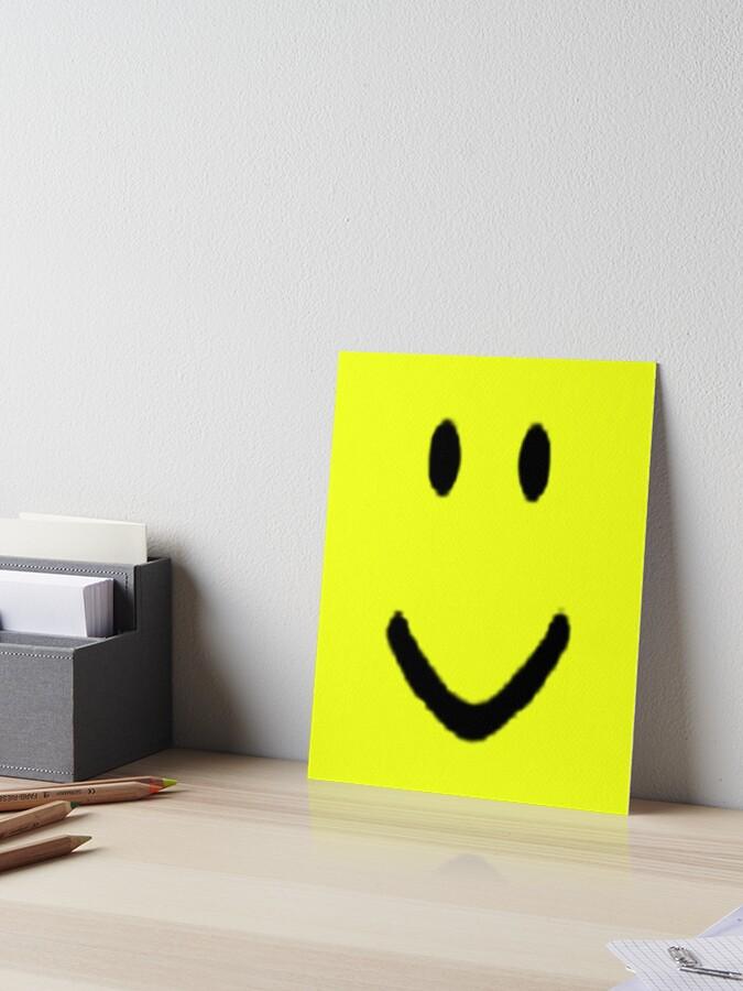 Roblox Halloween Noob Face Costume Smiley Positive Gift Art Board