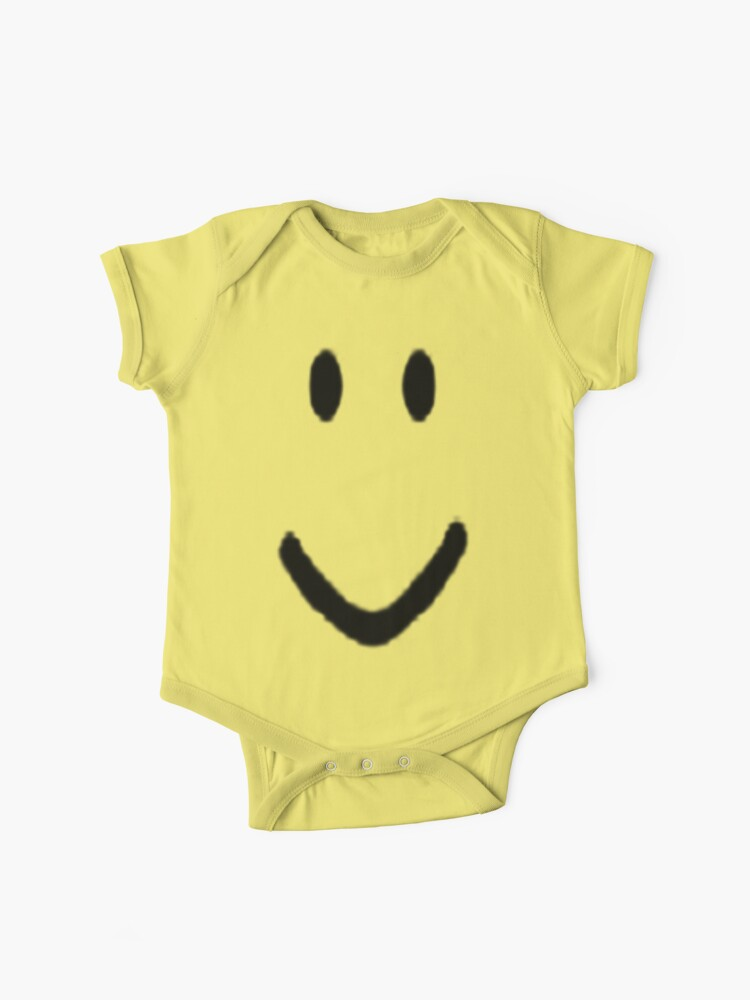Roblox Halloween Noob Face Costume Smiley Positive Gift Baby One