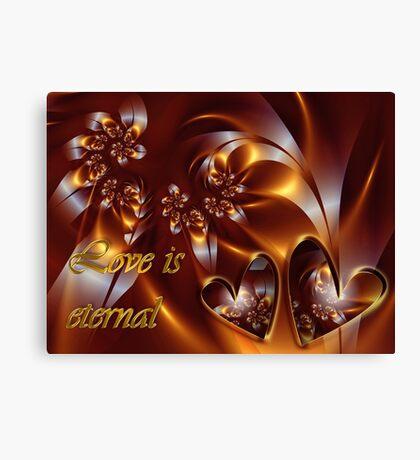 Love Is Eternal Card Canvas Print