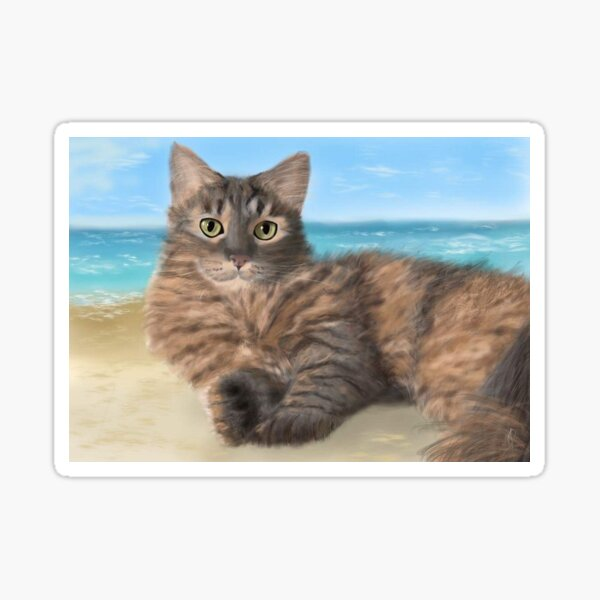 Sissi by the sea Sticker