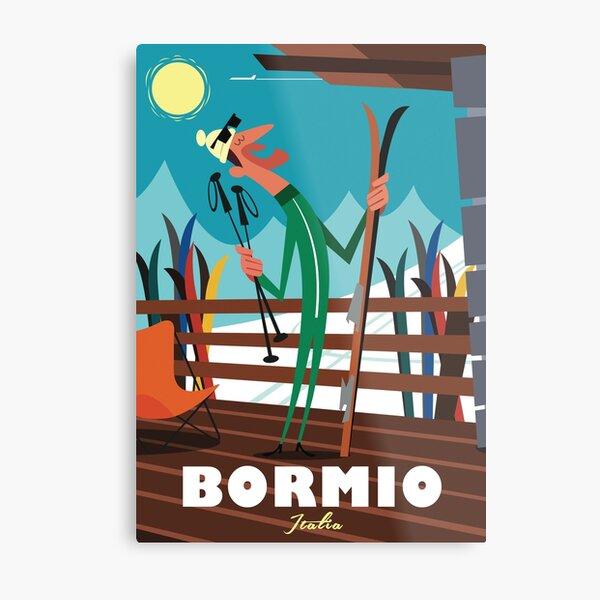 Bormio ski poster Metal Print