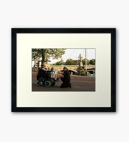 About real compassion and care Framed Print