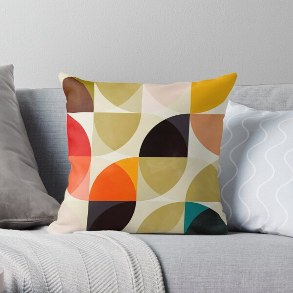 mid century 4 Throw Pillow