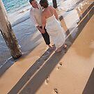 Footprints in the sand by Kieron Nolan