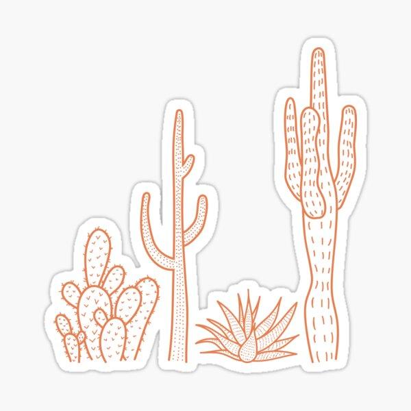 Terracotta cactus illustration Sticker