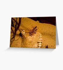 Locust mating Greeting Card
