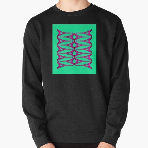 Eiffel Stack - Magenta on Mint Pullover Sweatshirt