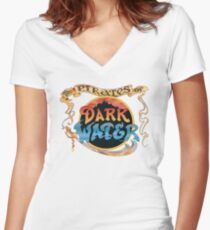 Pirates of Dark Water - color logo Women's Fitted V-Neck T-Shirt