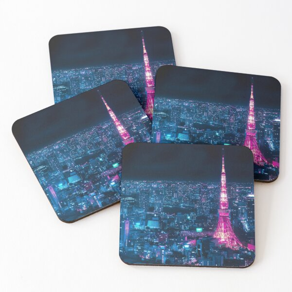 Tokyo Tower Coasters (Set of 4)