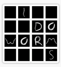 writing worms Sticker