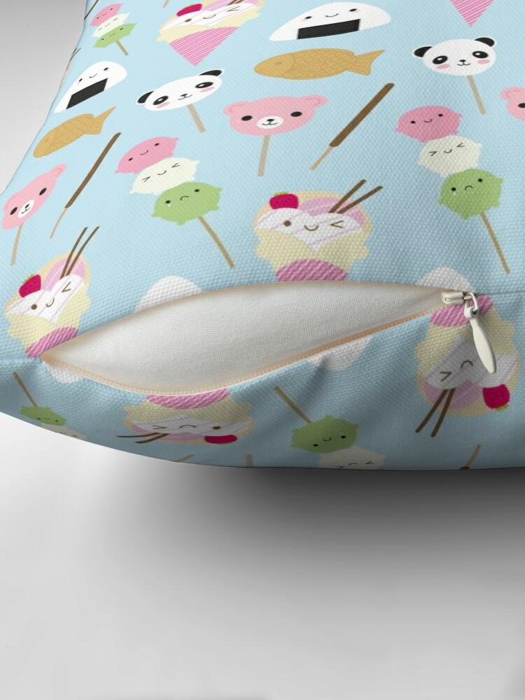 Alternate view of Japanese Kawaii Snacks Throw Pillow