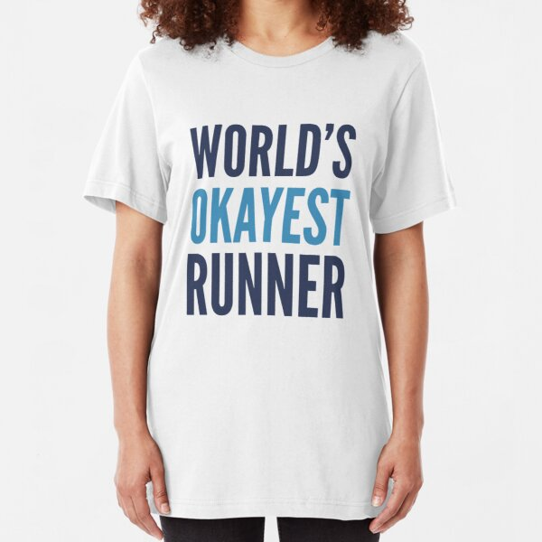 World's Okayest Runner Slim Fit T-Shirt