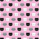 Cute Cats & Kawaii Kittens (Pink) by Marceline Smith