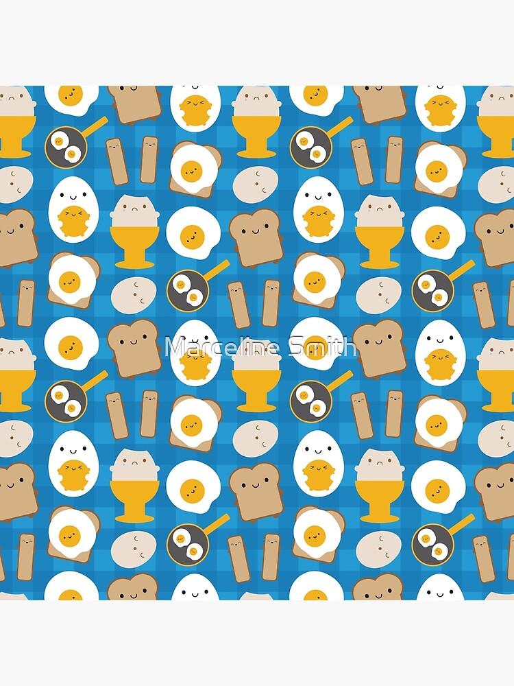 Kawaii Eggs For Breakfast by marcelinesmith