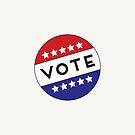 Vote USA Election Red White Blue Buttons by Lyman Creative Co.