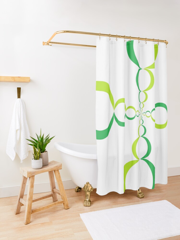 Alternate view of #OpArt, #visual #illusion, #VisualArt, opticalart, opticalillusion, opticalillusionart, opticalartillusion, psyhodelic, psichodelic, psyhodelicart Shower Curtain