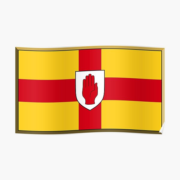 Ulster Flag Stickers, Gifts and Products Poster