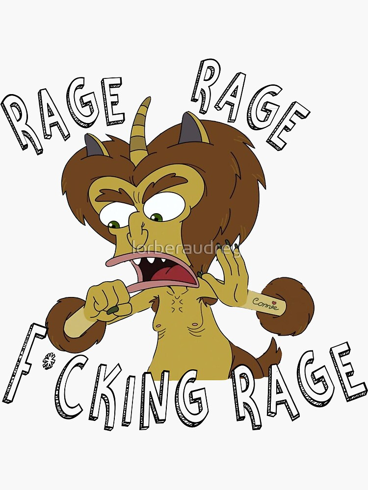 Big Mouth Maury Rage Angry by lorberaudrey