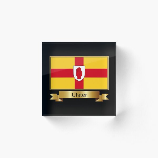 Ulster Named Flag Stickers, Gifts and Products Acrylic Block