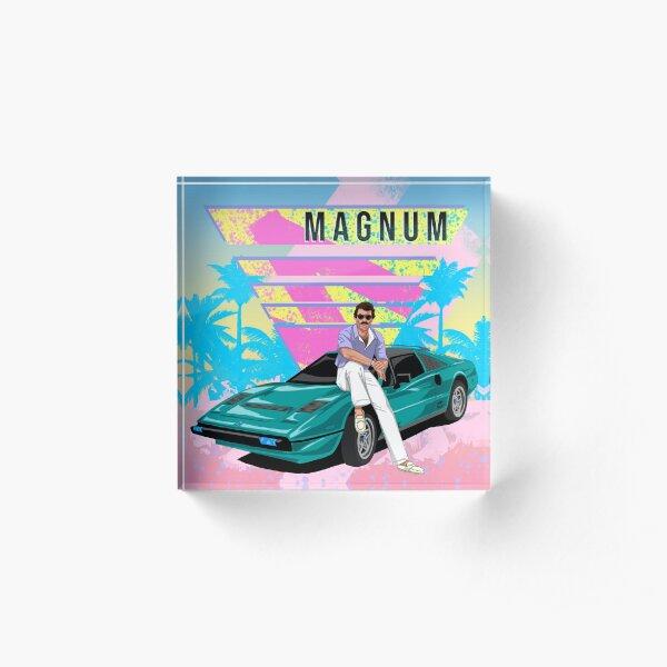 Magnum Vaporwave Acrylic Block