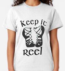 Camiseta clásica Funny Girls Irish Dance & Dancing Design Keep it Reel Danza irlandesa