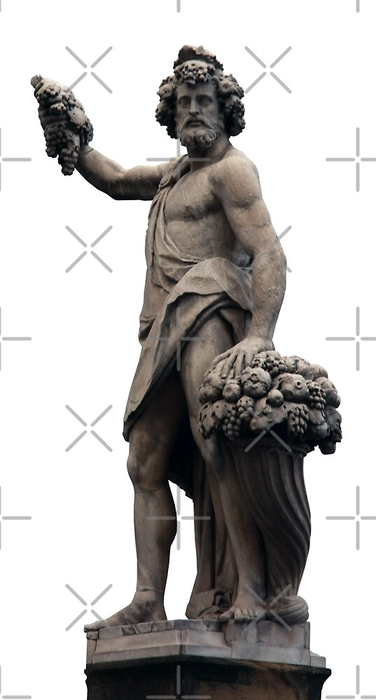 Italian Statue in Florence (isolated) by JHMimaging