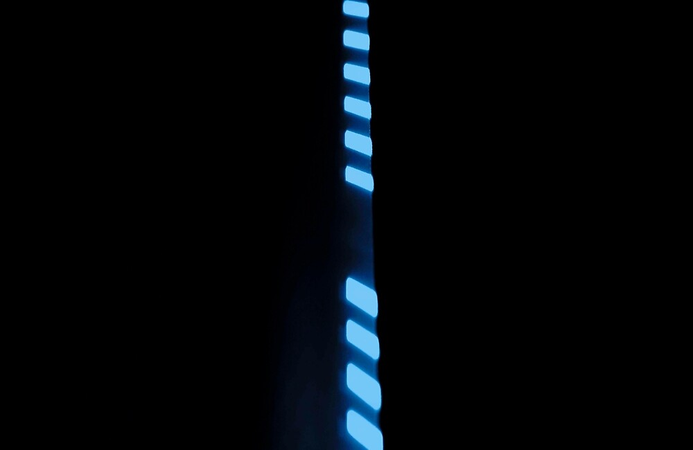 Line Up - Blue by Dale Cherney