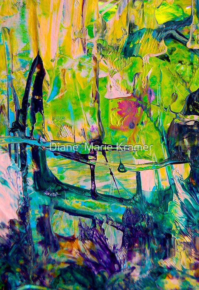 To Cross the bridge where the Iris grow by Diane  Marie Kramer