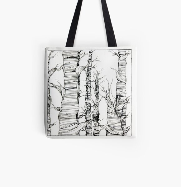 Line Forest  All Over Print Tote Bag