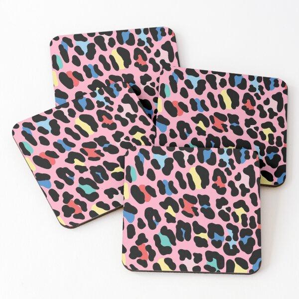 Rainbow leopard by Elebea Coasters (Set of 4)