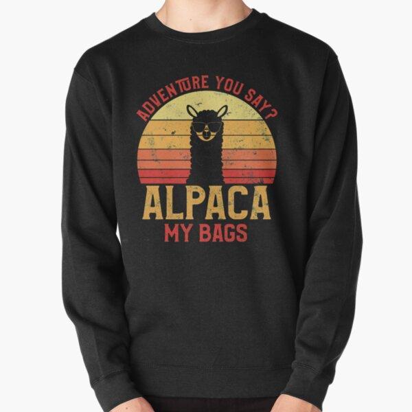 Weinlese-Alpaka-Abenteuer, das Sie sagen? Alpaka meine Taschen! Pullover