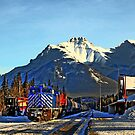 Rocky transportation in Banff, Alberta by Christopher B Smyth
