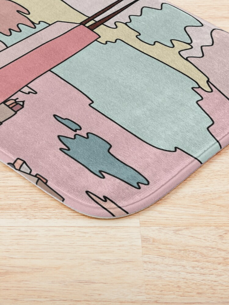 Alternate view of Chicago sunset by Sasa Elebea Bath Mat