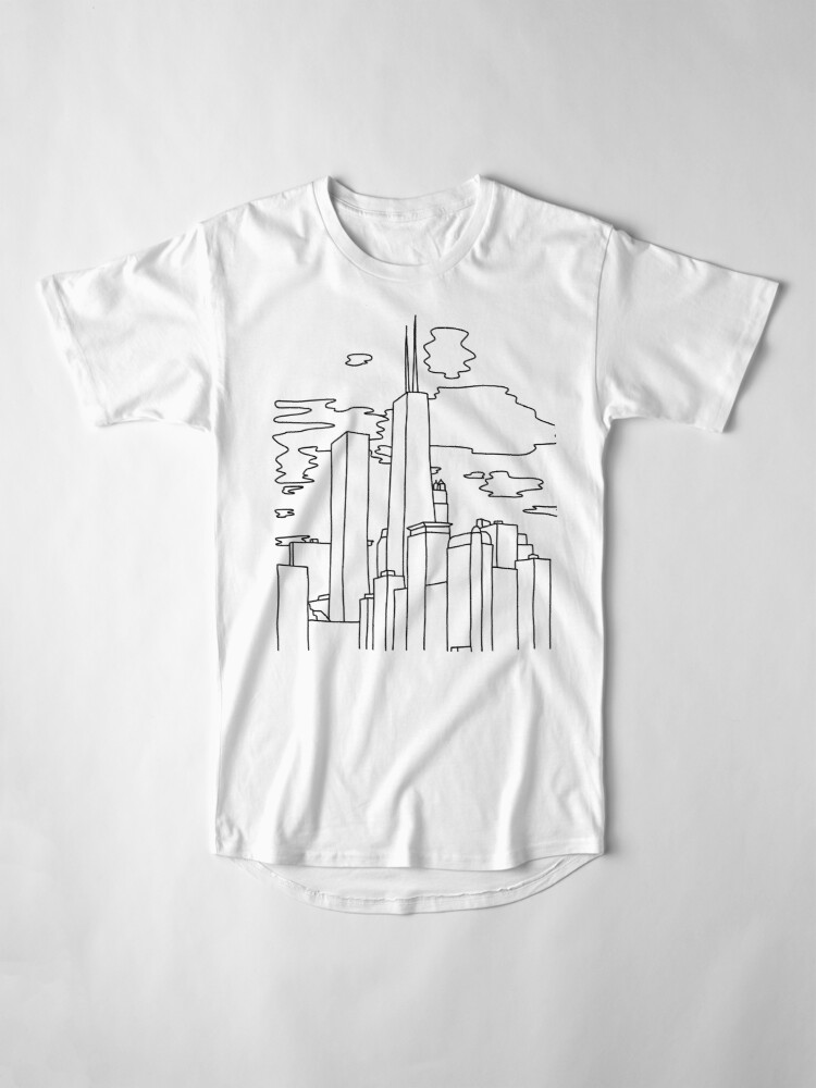 Alternate view of Chicago sunset by Sasa Elebea Long T-Shirt