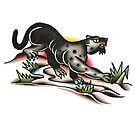 Traditional Prowling Panther Tattoo Design by FOREVER TRUE TATTOO
