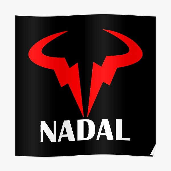 Rafael Nadal Logo Nadal Gold Poster By Gokuhsandro89 Redbubble